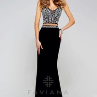 Faviana Two Piece Fitted Dress S7524