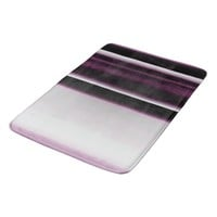 Burgundy and White Bold Stripes #HomeDecor #Rugs Bathroom Mat