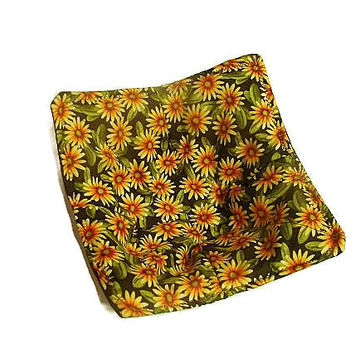 Yellow and Brown Sunflower Microwave Bowl Pot Holder