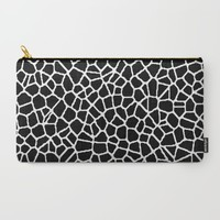 staklo (black with white) Carry-All Pouch by Trebam | Society6