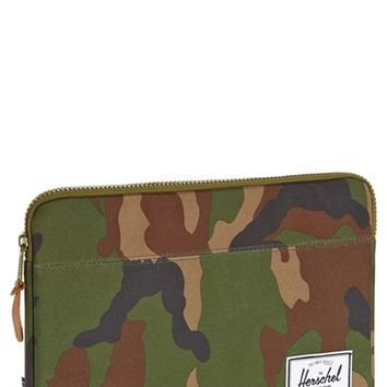 Men's Herschel Supply Co. 'Anchor - Camo' MacBook Air/Pro Laptop Sleeve - Green (13 Inch)