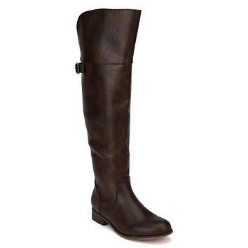 Women's Breckelles Rider-24 Equestrian Motorcycle Over the Knee Riding Boots