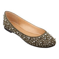 Nine West Studs Round Toe Flat