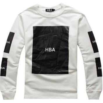 Indie Designs Hood by Air Inspired HBA Box Logo Crew-neck Sweatshirt
