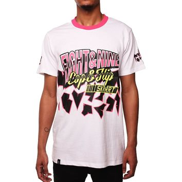 Cracked Racing T Shirt White