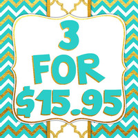 PICK ANY 3 Baby Bandana Bib Scarf Set with Snap Closures for Boy or Girl