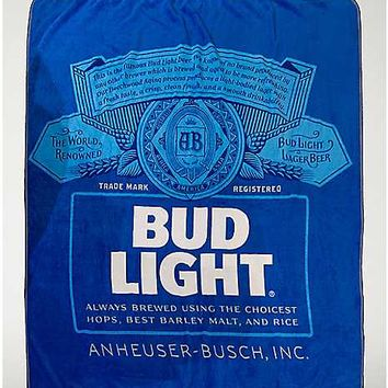 Bud Light Fleece Blanket - Spencer's