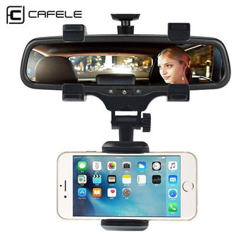 CAFELE Rearview Mirror Car Phone Holder Stand Phone Holder 360 Degrees For iPhone X Samsung S9 Universal GPS Smartphone holder