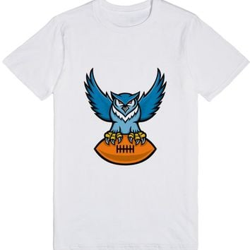 Great Horned Owl American Football Mascot