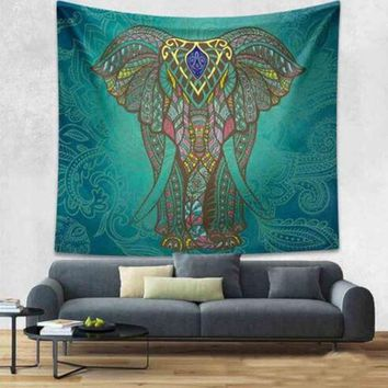 LMF9GW Mandala Tapestry 200CM Polyester Wall Tapestry Indian Elephant Tapestry Lotus Yoga Mat Home Decor Carpet toalla mandalas playa
