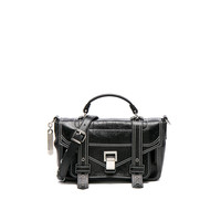 Proenza Schouler Novelty Strap Tiny PS1 in Black | FWRD
