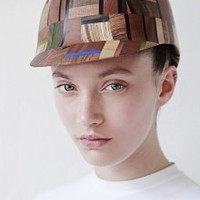 Mayan Multi Wood and Perspex Hat | NOT JUST A LABEL