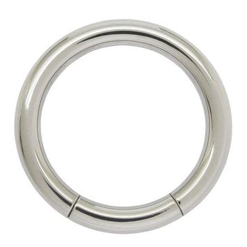 LMFIJ6 1.6mm x 10mm 316L  Surgical Stainless Steel Nose Piercing Segment Hoop Ring