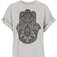 **Hand Boyfriend T-Shirt by Illustrated People - Tops  - Clothing