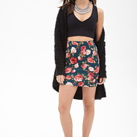 Rose Print Mini Skirt | Forever 21 - 2000099775
