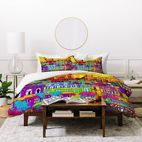 Aimee St Hill I Heart Paris Duvet Cover