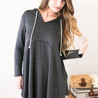 Falling All Over Again Grey Tunic Hoodie