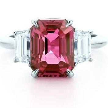 Tiffany & Co. Pink sapphire ring