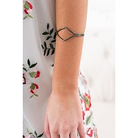 Otis Geometric Cuff Bracelet (Antique Gold)