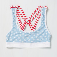 Red, White, and Beautiful Bralette in Americana | Mod Retro Vintage Underwear | ModCloth.com