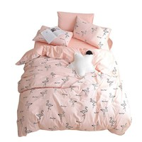 BuLuTu 100% Cotton Flamingo Girls Duvet Cover Set Twin Pink Cute 3 Pieces Kids Bedding Sets Zipper Closure with Ties,Love Gifts for Her,Mom,Women,Sister,Teen Girls,Friend,Family,NO Comforter