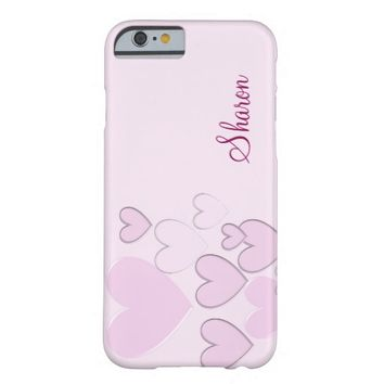 Romantic hearts barely there iPhone 6 case