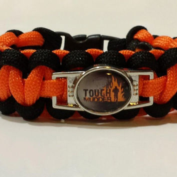 Tough Mudder Bracelet, Tough Mudder Jewelry, Tough Mudder, Tough Mudder Paracord Bracelet, Custom Bracelet, The Tough Mudder