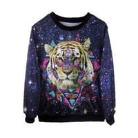 Bangniweigou Galaxy King Tiger Aztec Unisex Hip-hop Sweatshirt:Amazon:Clothing