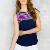 Caribeno Embroidered Tank