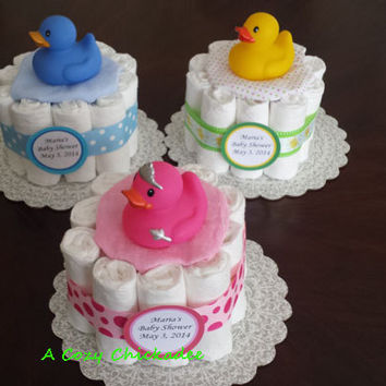 Mini Diaper Cake Centerpiece Set of 3