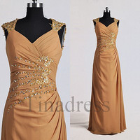 Custom Applique Beaded Long Prom Dresses Elegant Evening Dresses Party Dresses Wedding Party Dresses Mother Dresses of the Bride