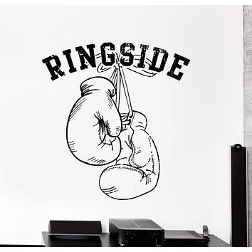 Vinyl Wall Decal Boxing Gloves Fighting Sport Ringside Big Home Decor Unique Gift z4461