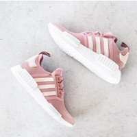 ADIDAS Women Men NMD Running Sport Casual Shoes Sneakers Pink