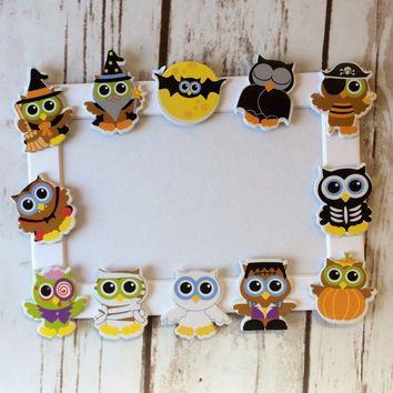 Halloween Owls Themed Craft Kit, Magnet Craft, Costume Party Activity, Children's Crafts, Picture Frame
