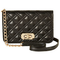 Quilted Crossbody Bag - Black