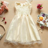 BRIEF PARAGRAPH BOWKNOT DRESS