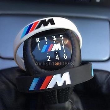 M Logo Power Bracelets Black White Hologram Silicone Wristband BMW Fans
