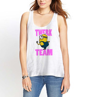 Twerk Team Minion Womens Tank Top *