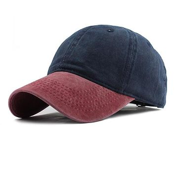 Mixed colors Washed Denim Snapback Hats Autumn Summer Men Women Baseball Cap Golf Sunblock Beisbol Casquette Hockey Caps