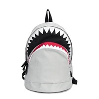 Magic Pieces Big Shark Backpack 0801J Color White