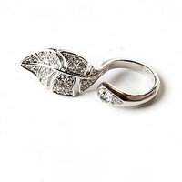 Wrap Leaf Ring | Cute Accessories at Pink Ice