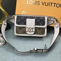 Louis Vuitton LV Women Fashion Leather Crossbody Shoulder Bag Satchel