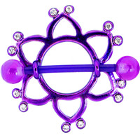 BIOPLAST Purple STAR Nipple Shield | Body Candy Body Jewelry