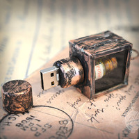 USB pendrive Steampunk Gothic POISON bottle by GothChicAccessories