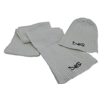 D&G Fashion Beanies Knit Winter Hat Cap Scarf Scarves Set Two-Piece