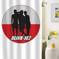 blink 182 silhouette shower curtain special custom shower curtains that will make your bathroom adorable