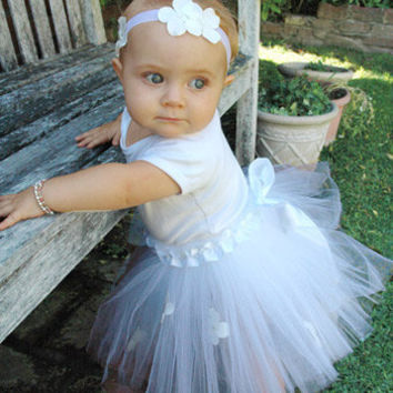 Bow Blossom White Tutu - Final Sale
