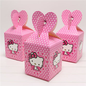 Best 10 little boxes cute cartoon hello kitty candy box decor baby shower party Baby Clothi