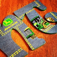 JOHN DEERE INSPIRED HAND PAINTED WOOD WALL LETTERS