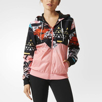 Print Adidas Letter Windbreaker Sports Gym Jogging Costume Jacket [8070963591]